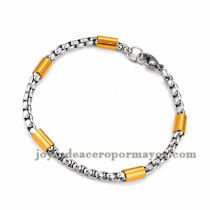 brazalete de estilo simple en acero plateado inoxidable para mujer -SSBTG953659