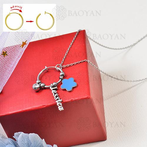 collar de charms DIY en acero inoxidable -SSNEG142-16262