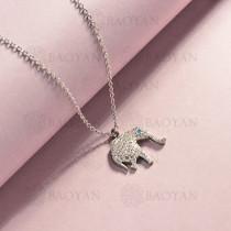 collar de acero inoxidable para mujer -SSNEG143-14829-S