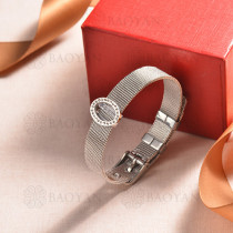 pulsera de charm en acero inoxidable para mujer -SSBTG142-16174-S