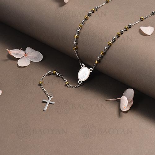 rosario en acero inoxidable -SSNEG95-16388