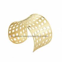 pulsera de forma malla en acero dorado inoxidable para dama -SSBTG213374