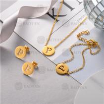 Conjunto de Pulsera Collar y Aretes en Acero Inoxidable -SSNEG126-10506