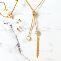 conjunto de dorado en acero inoxidable-SSNEG107-10092