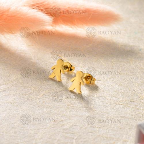 Aretes en Acero Inoxidable para Mujer -SSEGG143-8809