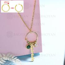 collar de DIY en acero inoxidable -SSNEG143-15443