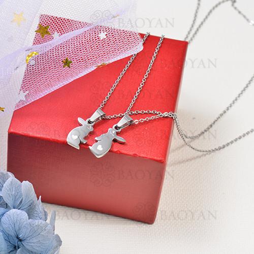 collar para parejas en acero inoxidable -SSNEG142-16267