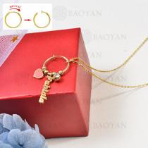 collar de charms DIY en acero inoxidable -SSNEG142-16248