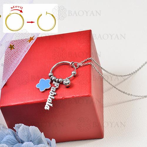 collar de charms DIY en acero inoxidable -SSNEG142-16260