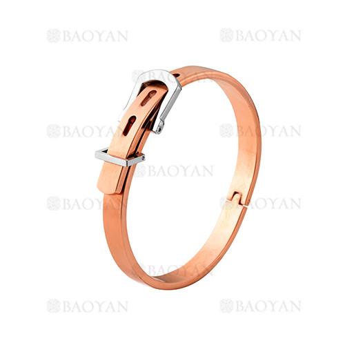 pulsera de moda de oro rosado en acero inoxidable-SSBTG1225015