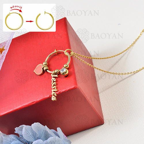 collar de charms DIY en acero inoxidable -SSNEG142-16250