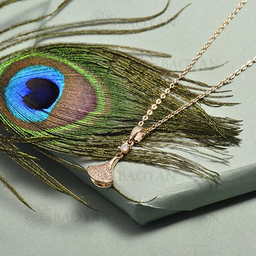 collar de circon en bronce -BRNEG144-16461