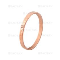 pulsera de moda con cristal de oro rosado en acero inoxidable-SSBTG1224981