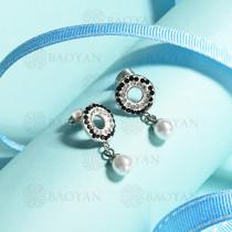 aretes de acero inoxidable para mujer -SSEGG143-14836-S
