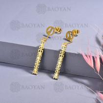 aretes de acero inoxidable para mujerSSEGG175-15666