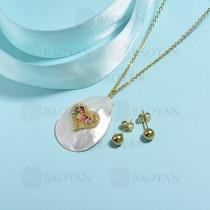 conjunto de collar de bronce y concha -SSCSG107-15844