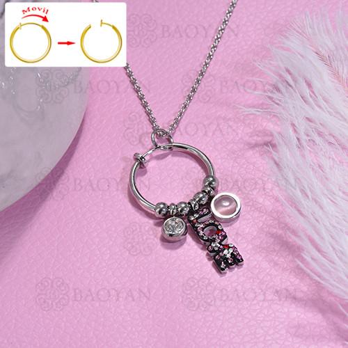 collar de DIY en acero inoxidable -SSNEG143-15484