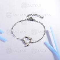Pulsera de Acero Inoxidable Cristal para Mujer -SSBTG143-14804-S