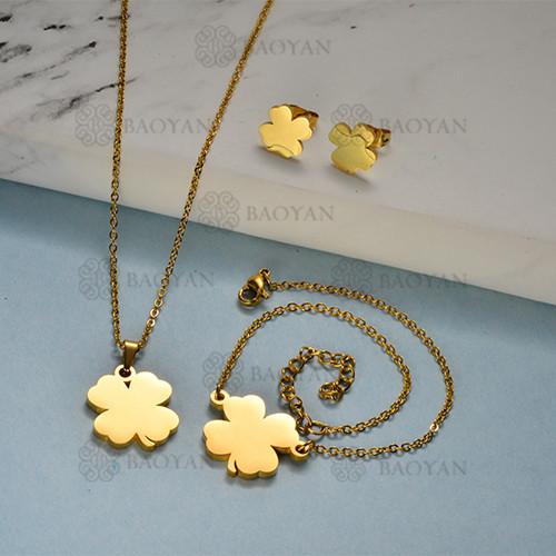 Joyas de Acero Inoxidable de Color Oro Dorado -SSNEG143-12210