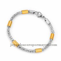 brazalete de estilo simple en acero plateado inoxidable para mujer -SSBTG953657