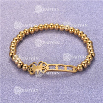 Pulsera con Bolitas Oro Dorado Para Mujer -SSBTG95-6295