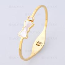 pulsera con lazo en acero de dorado -SSBTG1225230