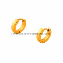 argollas 11 mm dorado estilo simple en acero inoxidable para mujer -SSEGG273500