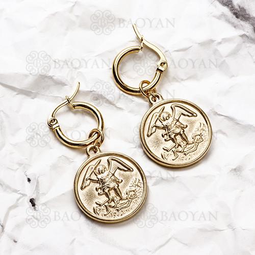 pendientes de Acero Inoxidable medalla para Mujer -SSEGG142-14713