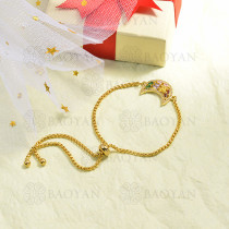 pulseras de circones multicolor en bronce -BRBTG155-16032