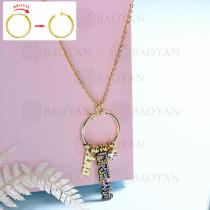 collar de DIY en acero inoxidable -SSNEG143-15442