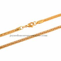 49cm cadena de acero inoxidable en color dorado 49cm -SSCDG33111