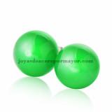 aretes de bola verde en acero para chica-SSEGG163777