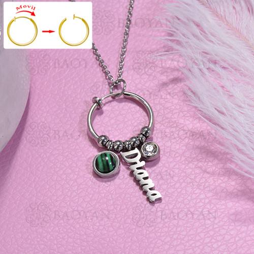 collar de DIY en acero inoxidable -SSNEG143-15477