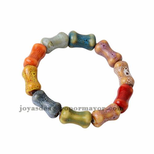 pulsera de hueso especial color en ceramica -ACBTG18109