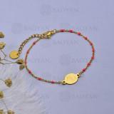 pulsera de Rosario Oro Dorado en Acero -SSBTG95-16103