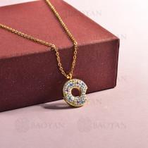 collar de acero inoxidable para mujer -SSNEG143-14805-G
