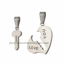dijes de llave y corazon en acero inoxidable para pareja-SSPTG97994
