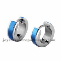 argollas 10mm azul y plateado en acero inoxidable -SSEGG274102