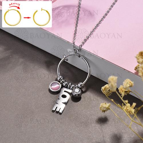 collar de DIY en acero inoxidable -SSNEG143-15493