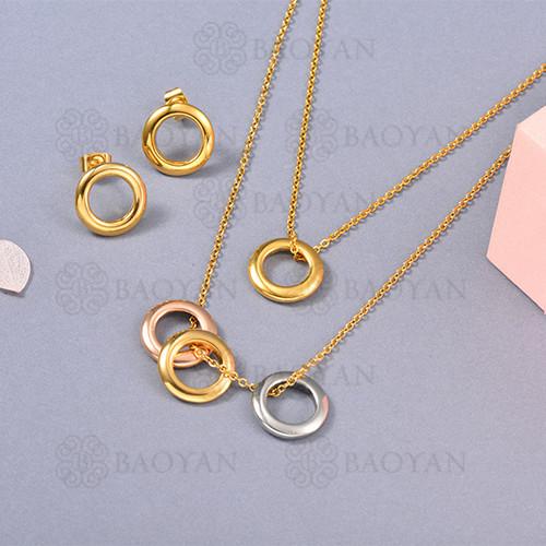 Conjunto de Collar en Acero Inoxidable -SSNEG126-13061