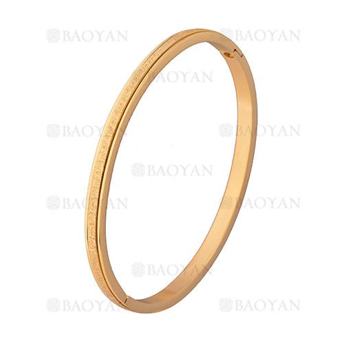 pulsera dorado rayas  brillo en acero inoxidable - SSBTG1225558