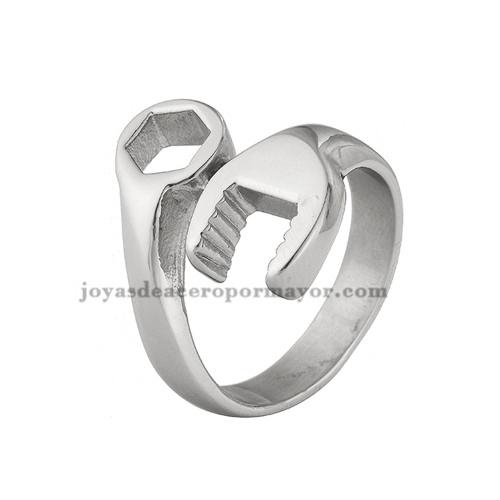 anillo de llave ytuerca de tornillo en acero inoxidable para mujer- SSRGG971009