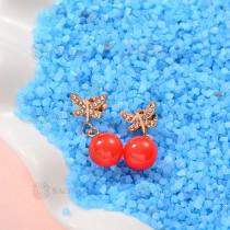 Aretes de Perlas de Acero Inoxidable -SSEGG143-9294