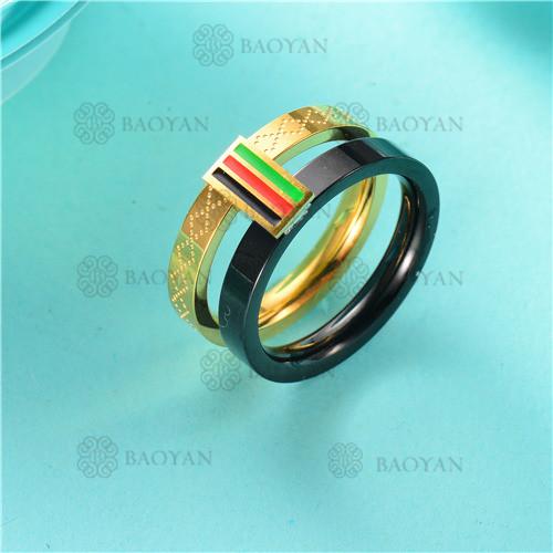 anillo moda en acero inoxidable-SSRGG80-2477