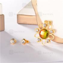 conjunto de dorado en acero inoxidable-SSSTG107-8160