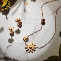 Collar con Aretes en Acero Inoxidable -SSCSG143-9421-G