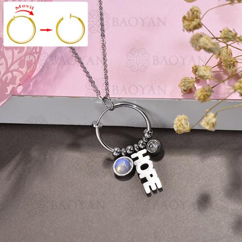collar de DIY en acero inoxidable -SSNEG143-15521