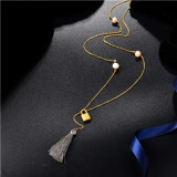 Collar de Multi-Capa en Acero Inoxidable -SSNEG142-8444