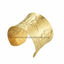 pulsera de image gato hermaoso en acero dorado  inoxidable -SSBTG213437