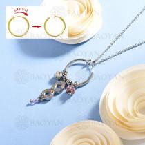 collar de multi color charm DIY en acero inoxidable -SSNEG142-14938